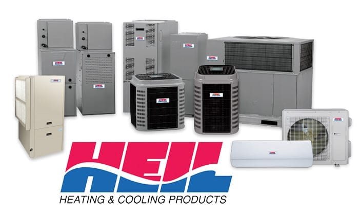 heil heating and cooling products on white background
